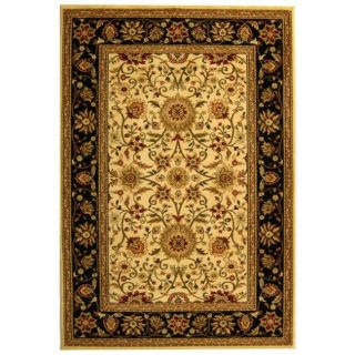 Lyndhurst Collection Majestic Ivory/ Black Rug (4 x 6)