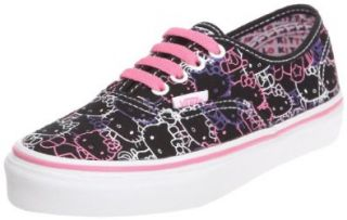 Vans Kids Girls HELLO KITTY Authentic Black Passion Flower Shoes