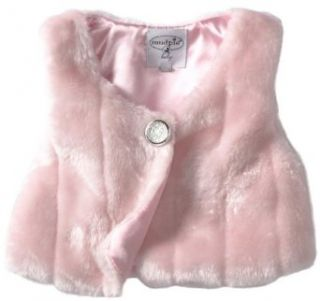 Mud Pie Baby girls Infant Faux Fur Vest Clothing