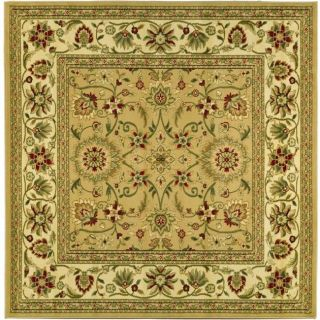Lyndhurst Collection Majestic Beige/ Ivory Rug (8 Square)