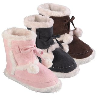 Journee Collection Kids Mimimax Faux Fur Lined Toggle Slipper Boots