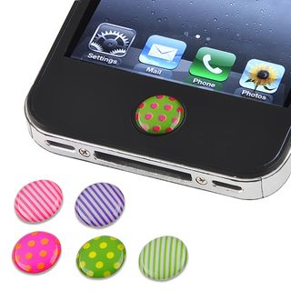 Dot/ Strip Home Button Sticker for Apple iPhone/ iPad (Pack of 6