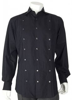 Dolce & Gabbana Mens Navy Striped Dress Shirt