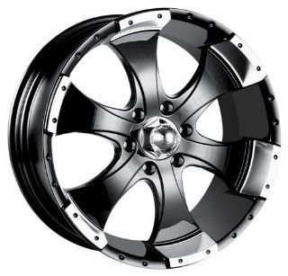 Ion Alloy 136 Black Wheel with Machined Lip (14x6/5x114.3mm)