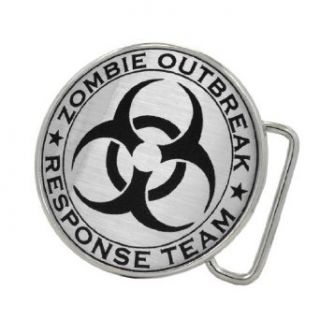 Zombie Outbreak Response Team Brushed Aluminum Belt Buckle