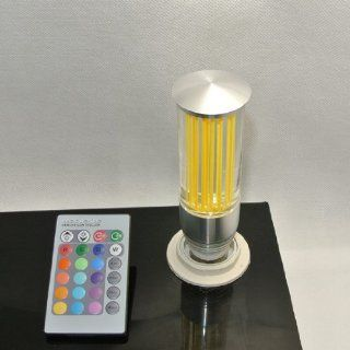 E27 3w RGB Multicolor Ir Remote Control Crystal Glass Cylinder LED