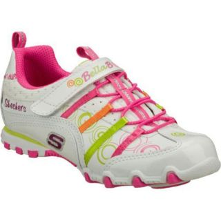 Girls Skechers Bella Ballerina Prima Princess White/Multi/Pink