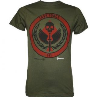 Warfare 2 Task Force 141 Mens Slim Fit T Shirt, XX Large Clothing