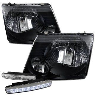 2002 2005 Ford Explorer Headlights Lamps + 8 Led Fog Bumper Light