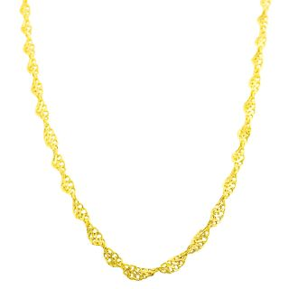 Fremada 14k Yellow Gold Diamond cut Twisted Infinity Link Necklace