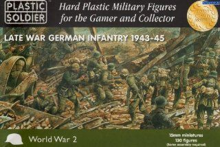 15mm WWII   German Late War German Infantry (130) Toys