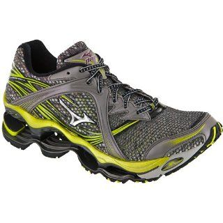 Wave Prophecy Mizuno Mens Running Shoes Gray/Silver/Green Shoes