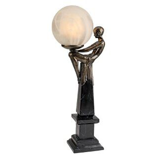 21 Classic Bronze Art Deco Sculpture Statue Table Lamp