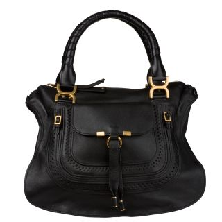 Chloe Marcie Small Saddle Leather Tote