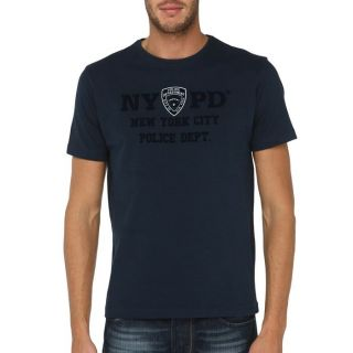 NYPD T Shirt Homme Marine Marine   Achat / Vente T SHIRT NYPD T Shirt