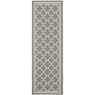 Safavieh Anthracite Grey/ Beige Indoor Outdoor Rug (22 x 14