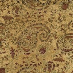 Lyndhurst Collection Paisley Beige/ Multi Rug (7 Round)