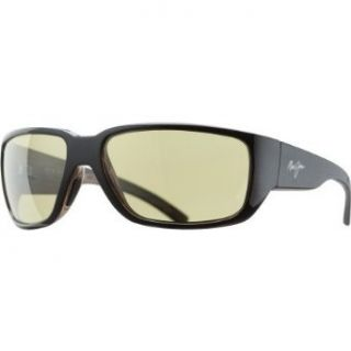 Maui Jim 38137 02B Black w/ Woodgrain Seawall Square