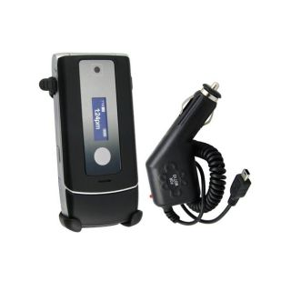 Eforcity LCD out Swivel Holster/ Mini USB Car Charger for Motorola