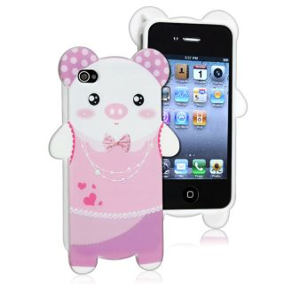 Pig Shape Cutting TPU Rubber Skin Case for Apple iPhone 4/ 4S