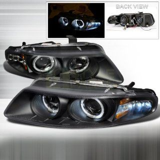 1997 2000 Dodge Avenger Halo Led Projector Headlights Black