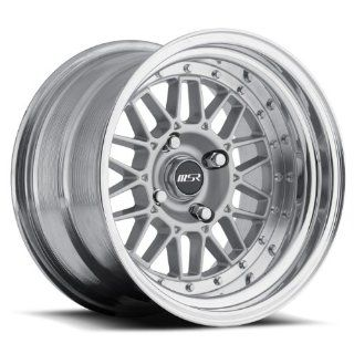 MSR 228 15x9 2 piece wheels 4x100 15mm silver Color (set of four) NEW