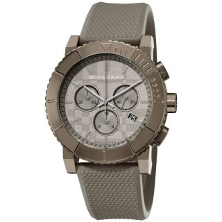Burberry Mens Round Chronograph Trench Rubber Strap Watch