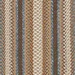 Hand woven Reversible Brown Braided Rug (23 x 12)