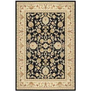 Traditional Yale Mahal Black Area Rug (53 x 73)