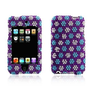 Apple iPod Touch Purple Snow Flakes Design Full Diamond Case