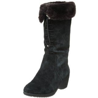 Khombu Womens Bellini Faux Fur Boot,Black,6 M US Shoes