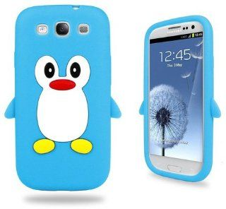 Samsung Baby Blue Penguin Silicone Case Cover With Free