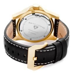 Swiss Legend Mens Conqueror Black Leather Watch