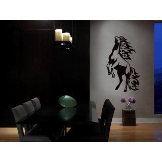 Vinyl Wall Art Decal Sticker Horse Mustang Flames Standing up 43x72 (6