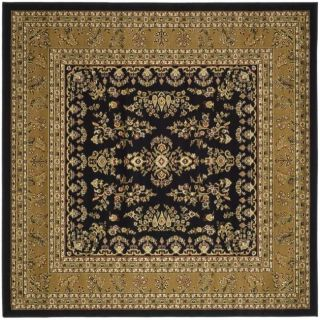 Lyndhurst Collection Black/ Tan Rug (6 Square)
